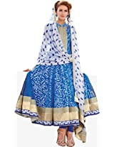 GRACEFUL AND CHARMING COTTON AND NET ANARKALI STYLE SUIT WITH PRINTED FAUX CHIFFON DUPATTA jd-3017a