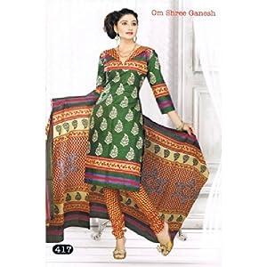Om Shree Ganesh Ladies 100% cotton dress material
