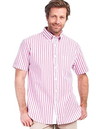 Cortefiel Camisa Rayas (Fucsia / Blanco)