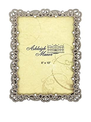 Ashleigh Manor Enlaced Pewter Border Photo Frame