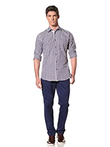 Moods of Norway Men's Kristian Vik Shirt with Tonal Buttons (Navy)