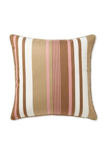 Elsa Blue Rainleaf Stripe with Cord Indoor/Outdoor Pillow, 22
