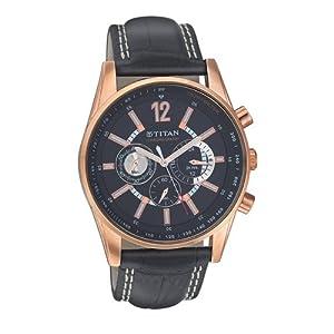 Titan Chronograph Black Dial Men's Watch - NC9322WL02A