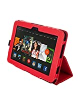 Kyasi Seattle Classic Folio Case with Sleep, Wake and Magnetic Close for Kindle HDX 8.9, Red Red