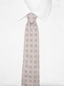 Hermès Men's Mini Logo Tie (Tan/Brown)