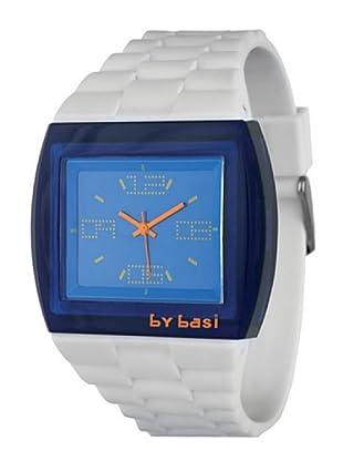 BY BASI A1013U01 - Reloj Unisex movi cuarzo correa policarbonato azul/blanco