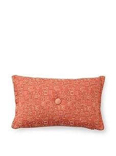 "Corona Decor Co. Deep Weave 17"" x 10"" Down Pillow, Rust"