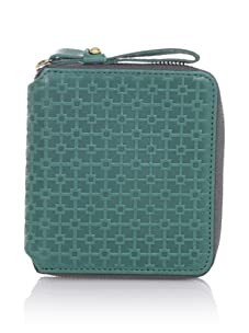 Hlaska Artifacts Women's Embossed Small Zippered Wallet (Teal)