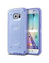 ULAK [KNOX ARMOR] Rugged Dual Layer Hybrid Protective Case for Samsung Galaxy S6 S VI (Purple)