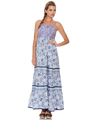 Peace & Love Vestido Largo (lila / azul)