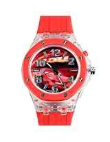 Disney Cars Kids Analog LED Watch - Red