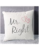 Lovers Valentine Cotton Linen Throw Pillow Case Home Cover (M11)