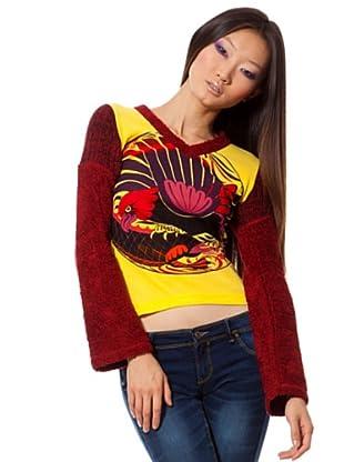 Custo Camiseta (Granate / Amarillo)