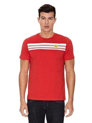Ferrari Camiseta Striped (Rojo)