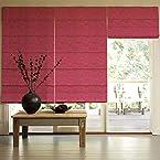 Presto Bazaar Dark Pink Jacquard Window Blind (48 Inch X 44 Inch)