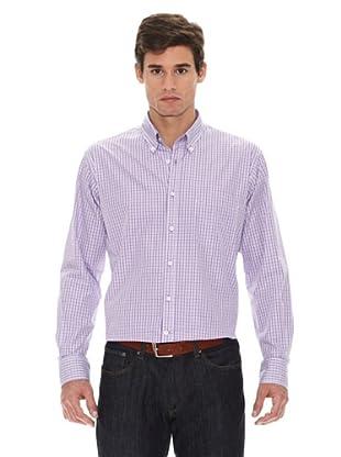 Turrau Camisa Mil Cuadros Pequeño Bicolor (Lila)