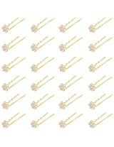 Nakshatra Collection Golden Gold Plated Hair Pin For Women (24 nos.)