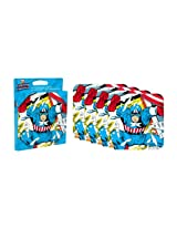 Aquarius Captain America Neoprene Coaster Set, 4-Piece