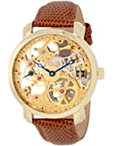 Akribos XXIV Men's AK406YG 'Davinci' Mechanical Gold Round Watch