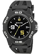 Sonata Analog Black Dial Men's Watch - NF7929PP08J