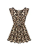 Thinkbay? Sexy Womens Crew Neck Leopard Print Party Tunic Skater Swing Mini D...