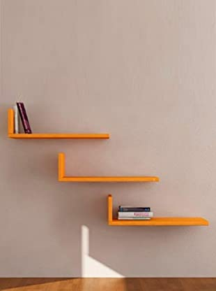 Decortie by Homemania Set 3 Estantes L (Naranja)