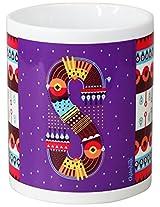 Chumbak Alphabet S Coffee Mug, 300ml