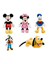 Disney Store Deluxe Plush Bean Bag Mickey Mouse And Friends Set Mickey Minnie Donald Pluto Goofy