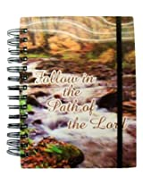 iDimension 3D Spiral Notebook or Journal ~ Follow the Path of the Lord (Forest River; 300 Pages, Ela