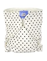 Baby Basic Diaper Single | White Dots Size , Infant