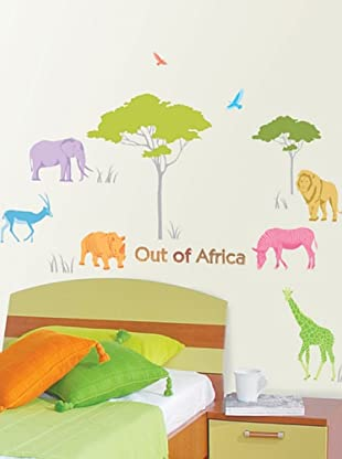 Ambience Live Vinilo Adhesivo Animales Africanos Multicolores