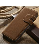 Yuga Brown Leather Flip Cover For Apple Iphone 6