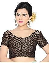 Studio Shringaar Wedding Black Solid Short Sleeve Non-Padded Blouse