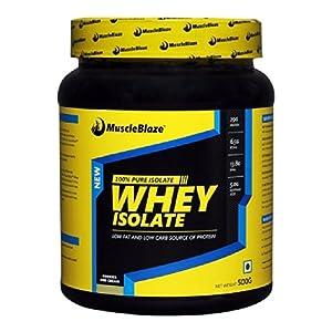 MuscleBlaze Whey Isolate, Cookies & Cream 1.1lb