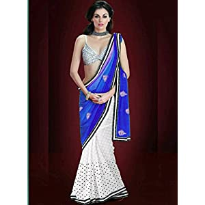 Designer Replica Blue Color Party Wedding Wear Saree