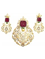 Shingar Ksvk Jewels Kundan Polki Cubic zirconia Pendant Set For Women (9535-dck-ps)