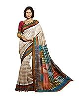 Bhavi Printed Maheshwari Silk Sari