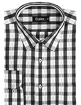 Cairon Black Check Smart Formal Shirt Sf-E6472_B