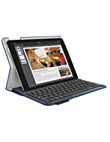 Logitech Type+ Protective Case with Integrated Keyboard for iPad Air 2, Woven Electric Blue - Textured Surface (920-006667)