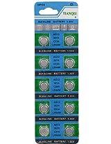 1 Card: 10pcs AG13 / LR44 1.5V Alkaline Button Cells AD