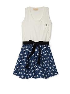 Lunchbox Girl's Scotty Tank Dress (Blue)
