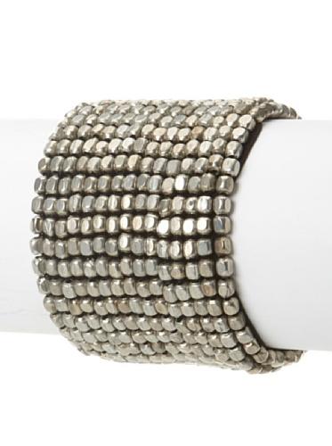 La Croix Rousse Beaded Bracelet, Silver