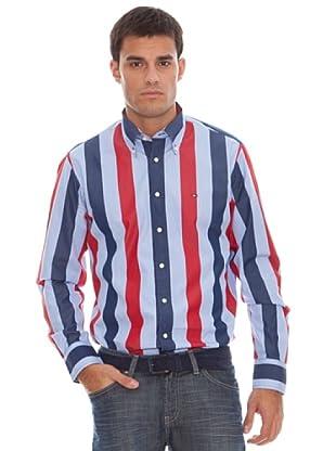 Tommy Hilfiger Camisa Rayas (Marino / Azul Cielo)