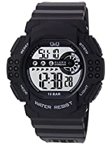 Q&Q Regular Digital White Dial Men's Watch - M128J003Y