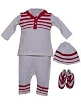 Amity Anchor Kids Warm Wear Set (AA14-15334_6-12 Months_White)