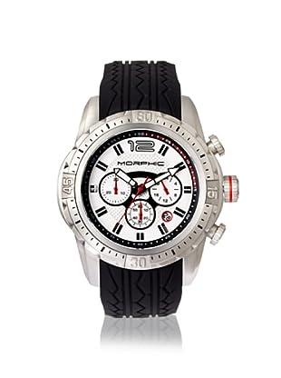 Morphic Men's 2701 M27 Series Black/White Silicone Watch