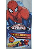 Marvel Ultimate Spider-Man 16 Valentines with 16 Bookmark Rulers