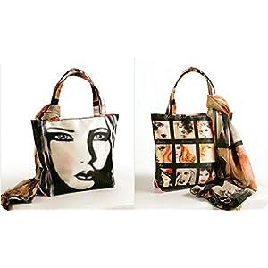 Shopping World Faux Silk With Shiffon Stole Hand Bag - 9Girls