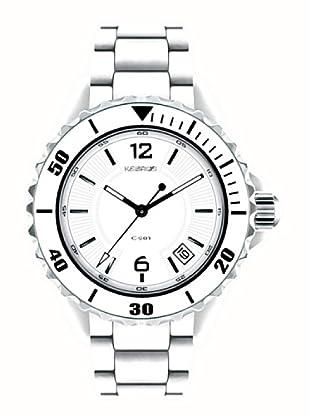K&BROS 9144-2 / Reloj de Señora  con brazalete metálico blanco