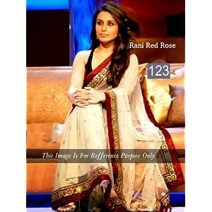 Rani Mukherjee Indian Bollywood Designer Party Wear Ethnic Women Saree, Sari - Maroon, White